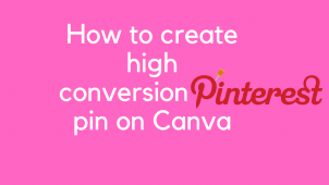 How to create a Pinterest pin on Canav