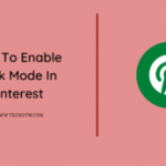 How to enable dark mode in Pinterest