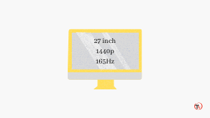 27 inch 1440p 165Hz monitor for gaming